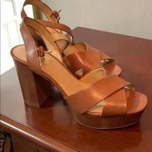 Michael Kors Leather Platform Heels